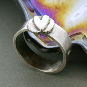 Touch of Love Wide Band Ring