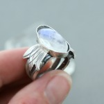 Daenerys Double Moonstone Ring