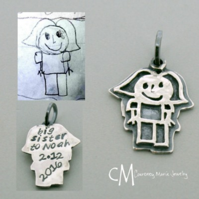 Organic Shape Child Artwork Charm