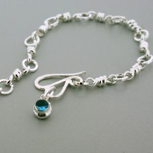 Charmed Chain Blue Topaz Birthstone Bracelet