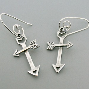 Guided Love Cross Earrings