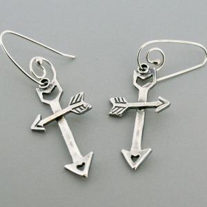 Guided Love Cross Earrings