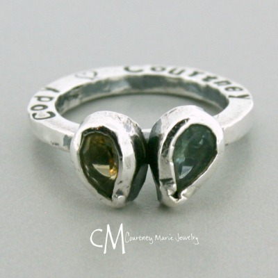 7x5mm Stone Heart Mommy Stacker