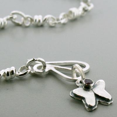 Small Butterfly Birthstone Charm Bracelet