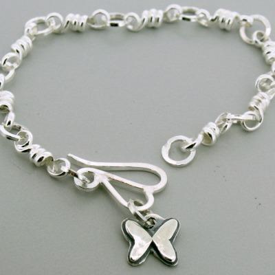 Small Butterfly Charm Bracelet