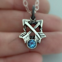 Guided Love Two Arrow Birthstone Pendant
